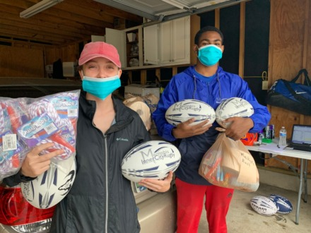 <strong>Members of Memphis Inner City Rugby donate food, toilet paper, jump ropes and rugby balls to students and families of local rugby athletes. MICR is one of Slingshot&rsquo;s 23 partner organizations.</strong> (Submitted/Justin Miller)