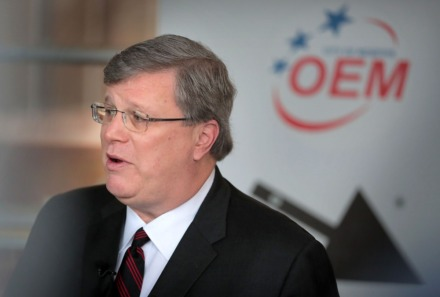 <strong>Memphis Mayor Jim Strickland gives a short press briefing before going into a daily meeting at Memphis Emergency Management headquarters on March, 20.</strong> (Jim Weber/Daily Memphian)