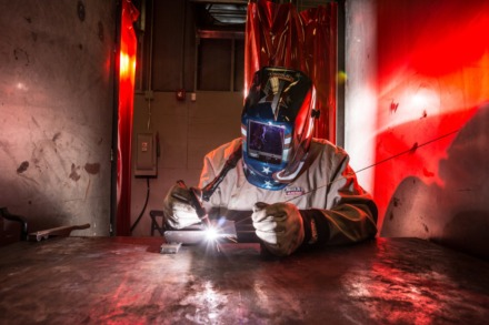 <strong>In this file photo, head weld instructor John Schmidt demonstrates a TIG Welder at Moore Tech.</strong> (Daily Memphian file)
