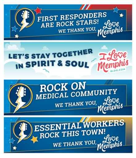 """<strong>Memphis Travel&rsquo;s """"I Love Memphis"""" blog presented several digital billboards with encouragement for hospitality employees and first-responders.</strong>&nbsp;(Submitted)"""