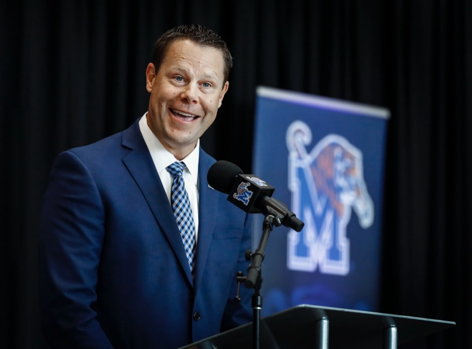 <strong>University of Memphis Athletic Director Laird Veatch, seen here Aug. 13, 2019, said that despite losses of $2.5 million, he doesn't expect to cut any sports.</strong> (Mark Weber/Daily Memphian file)