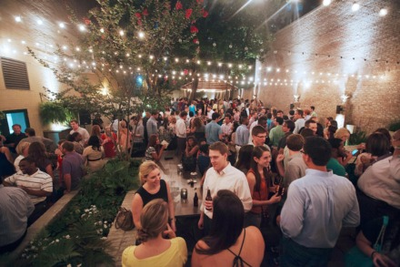 <strong>Felicia Suzanne's patio Downtown hasn't looked like this during the pandemic. The upscale restaurant was one of 13 small businesses that received forgivable loans on Wednesday, April 22.</strong> (Daily Memphian file)