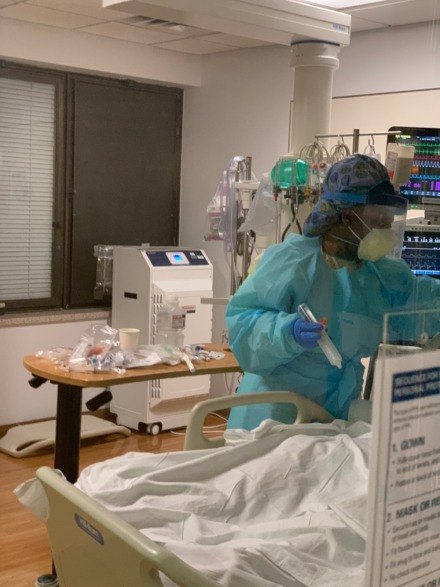 <strong>State Sen. Katrina Robinson of Memphis works in an intensive care unit at Bellevue Hospital in Manhattan.</strong> (submitted)
