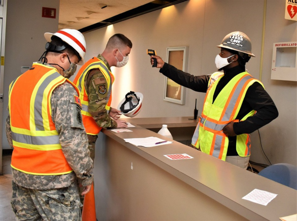 <strong>The<span>Army Corps of Engineers&nbsp;</span> deployed 1,638 people nationally - with support from 15,000 others - for the field hospital conversion projects.</strong> (Courtesy of Corps of Engineers)