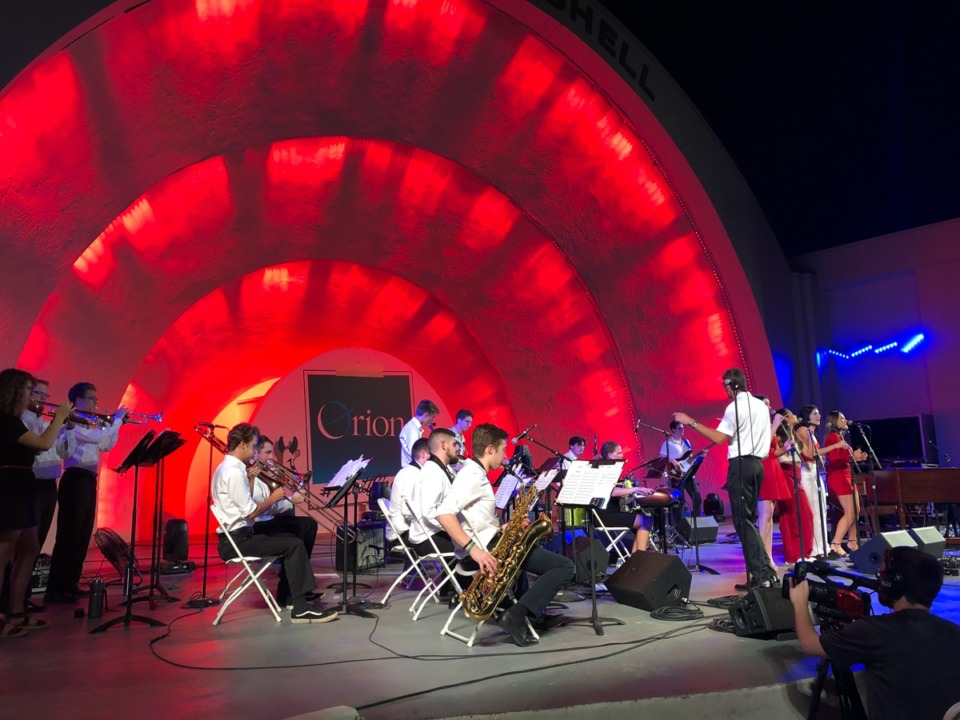 <strong>Rhodes College Jazz Band performs at Levitt Shell on September 28, 2019.</strong>&nbsp;(Photo submitted by Rhodes College)