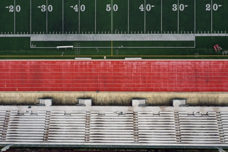 <strong>Central High School's Crump Stadium sits empty April 22, 2020 as students remain at home during the COVID-19 pandemic.</strong> (Patrick Lantrip/Daily Memphian)