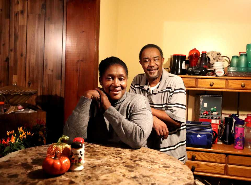 <strong>Nyasha and Mike Daniels sit in the kitchen of their new home in Frayser. The couple bought the home with the help of the Frayser CDC.</strong>&nbsp;(Houston Cofield/Daily Memphian)