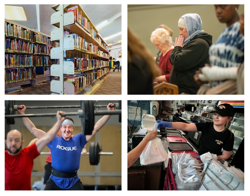 <strong>Libraries, gyms, places of worship and restaurants will be allowed to reopen with restrictions on Monday, May 4.</strong> (Daily Memphian file photos)