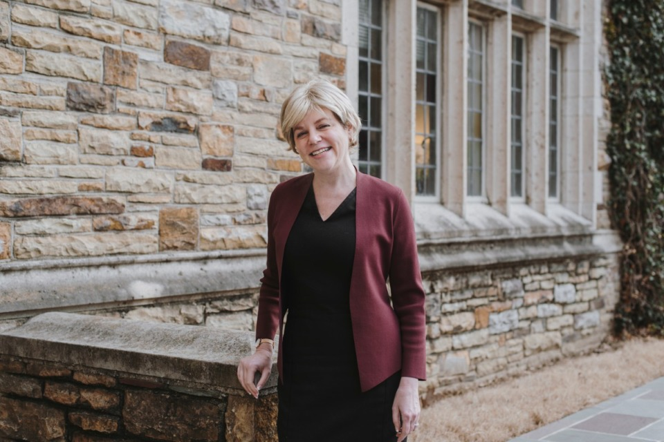 <strong>President of Rhodes College&nbsp;Dr. Marjorie Hass, seen here on campus in 2018, discussess how the college has responded to the coronavirus challenge.</strong> (Daily Memphian file)
