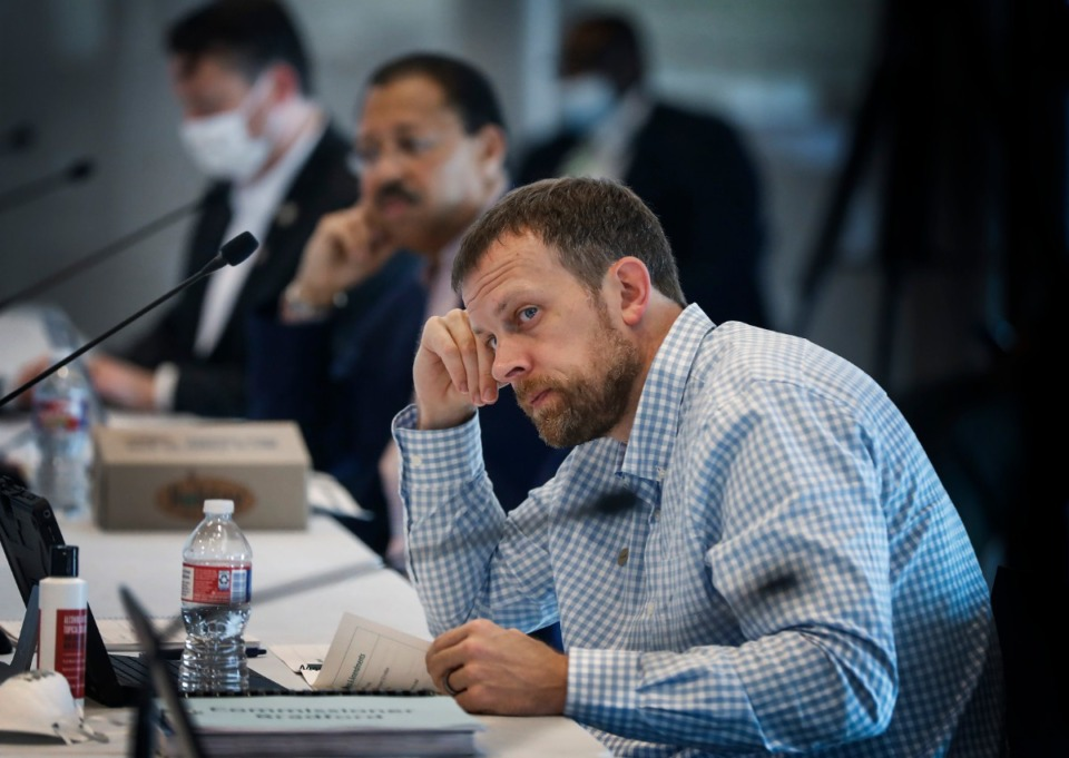 <strong>Shelby County Commissioner David Bradford attends a Budget Reset Retreat on Friday, May 8, 2020, at Shelby Farms.</strong> (Mark Weber/Daily Memphian)