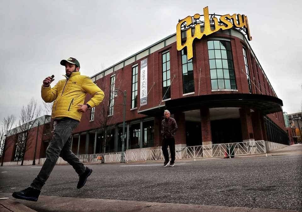 <strong>At a prime location downtown, the Gibson Guitar Factory still draws tourists, but sources say FedEx Trade Networks is ending negotiations to move its HQ to the building from Crescent Center and other offices around Memphis.</strong> (Jim Weber/Daily Memphian)