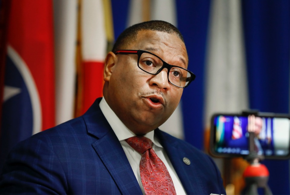 <strong>Shelby County Schools superintendent Dr. Joris M. Ray on Friday, March 20, 2020. Shelby County Schools announced a task force for reopening schools.</strong> (Mark Weber/Daily Memphian file)