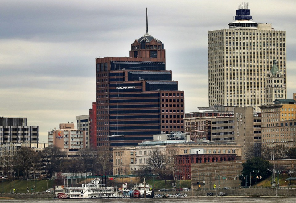 <strong>Raymond James &amp; Associates has plans to move from its Downtown office tower, the namesake and anchor for the 21-story building, to Ridgeway Center in East Memphis.</strong> (Jim Weber/Daily Memphian file)