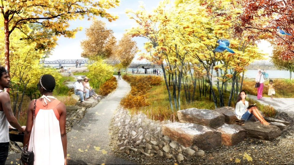 <strong>Rendering of the new Tom Lee Park</strong> (Courtesy Memphis River Parks Partnership)