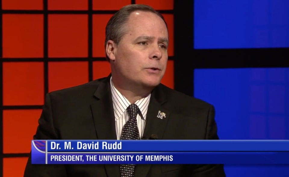 "<strong>University of Memphis president M. David Rudd appeared on ""Behind the Headlines"" on March 23, 2017.</strong> (Daily Memphian file)"