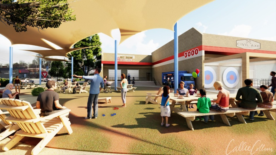 <strong>Rendering of Rec Room's expanded outdooor area.</strong> (Courtesy Callie Collins)