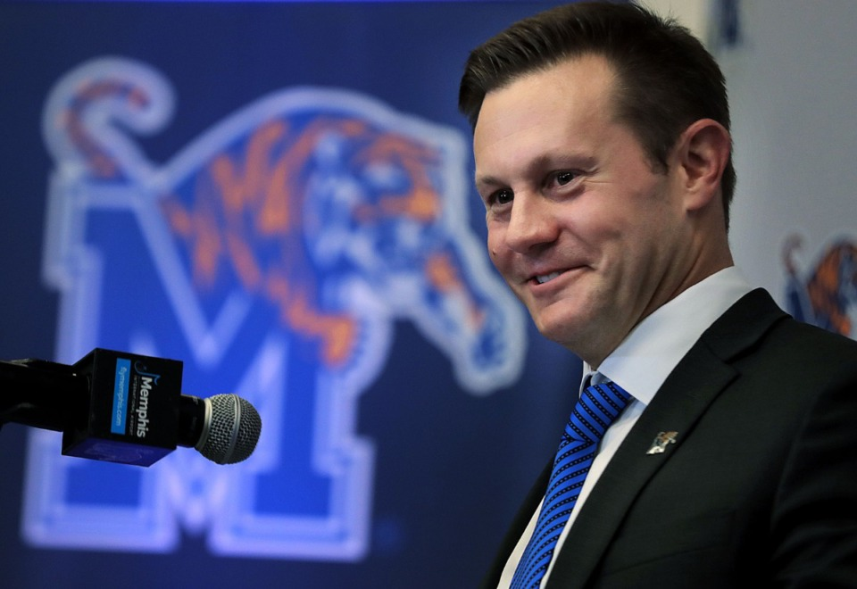 <strong>Ryan Silverfield was announced as the University of Memphis' new head football coach on Dec. 13, 2019.</strong> (Daily Memphian file)