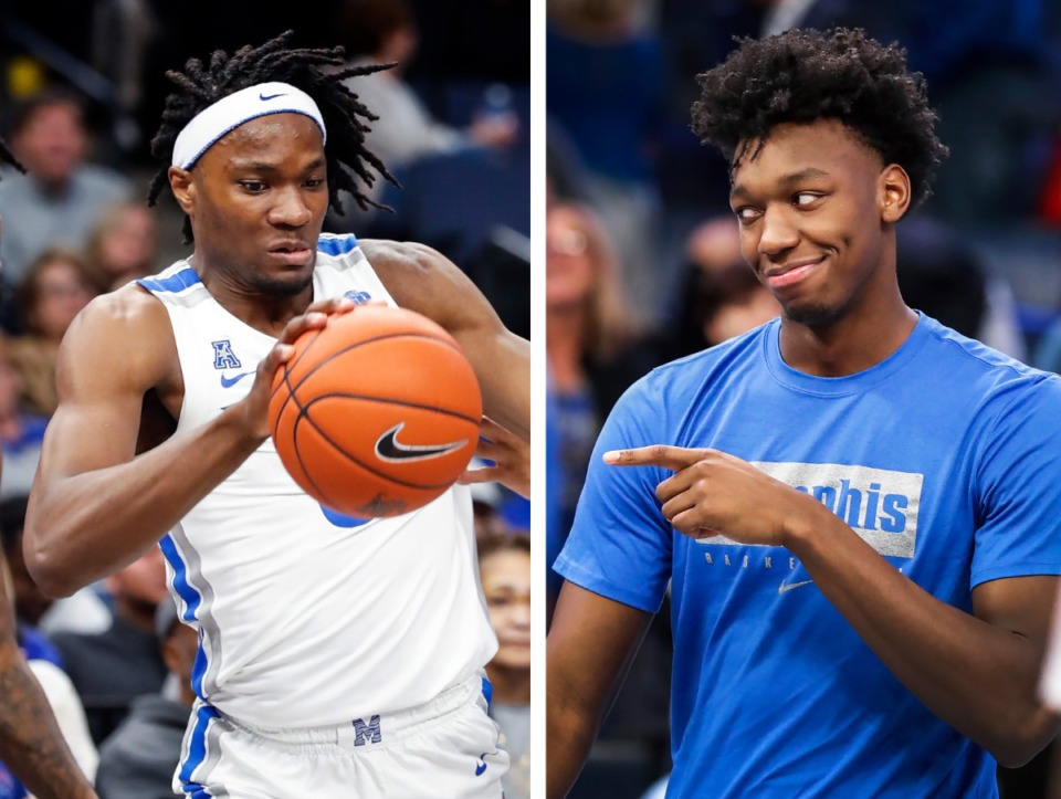 <strong>How's some heartburn: What if Precious Achiuwa (left) ended up with the Boston Celtics, while James Wiseman was drafted by the Golden State Warriors?</strong> (Daily Memphian file photos)