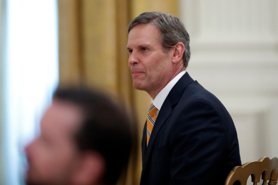 <strong>Tennessee Gov. Bill Lee on Thursday, April 30, 2020, in Washington.</strong><strong>&nbsp;Lee announced Tuesday, June 2, the state would funnel $200 million in federal funds to some 28,000 businesses forced to shut down during the COVID pandemic.</strong>(AP Photo/Alex Brandon)