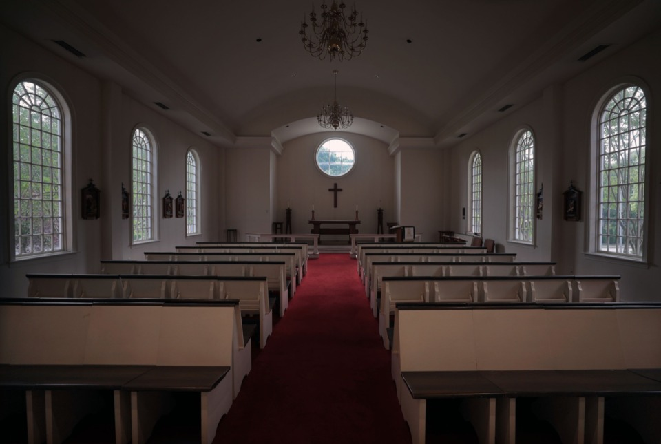 <strong>A smaller chapel near the main worship area at Church of the Holy Communion is newly renovated and awaits the return of parishioners.</strong> (Patrick Lantrip/Daily Memphian)