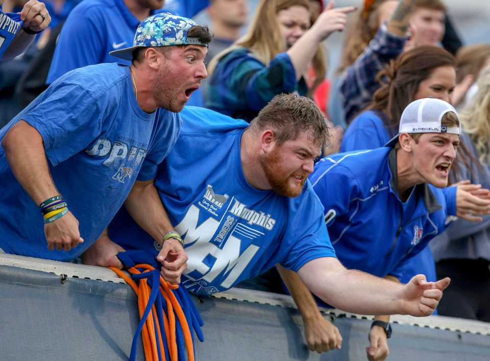 <strong>Memphis fans cheer on the Tigers during the Tigers-Central Florida matchup on Oct. 13, 2018, at Liberty Bowl Memorial Stadium in Memphis.</strong>&nbsp;(Cal Sport Media via AP Images/File photo)