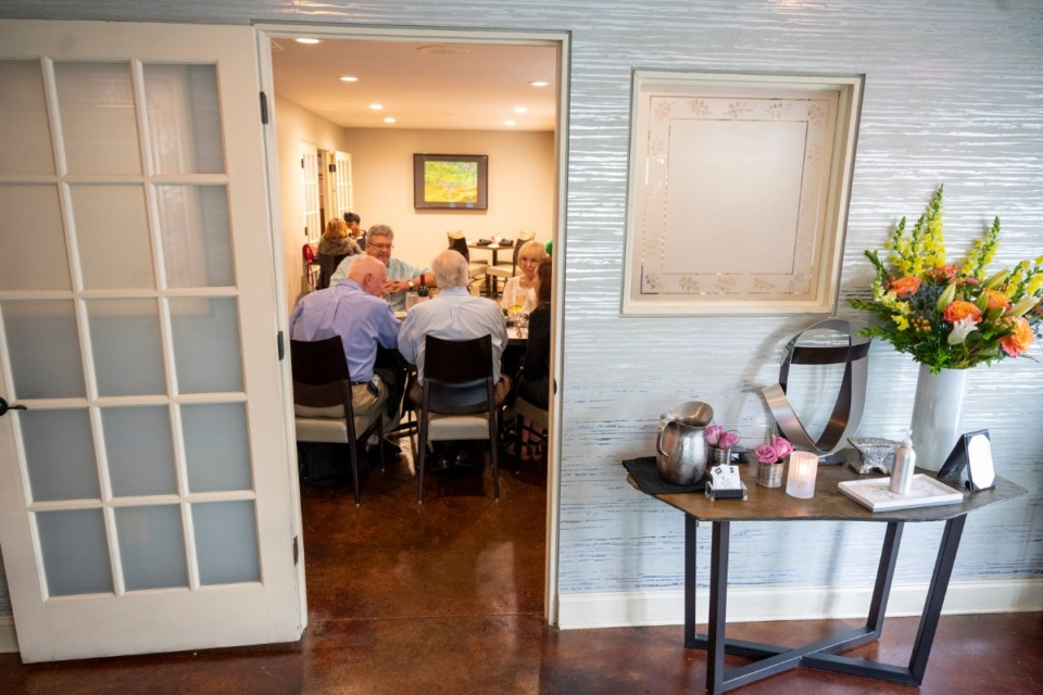 <strong>A small dining room was expanded during a renovation when Erling's was closed because of COVID-19. </strong>(Greg Campbell/Special to The Daily Memphian)