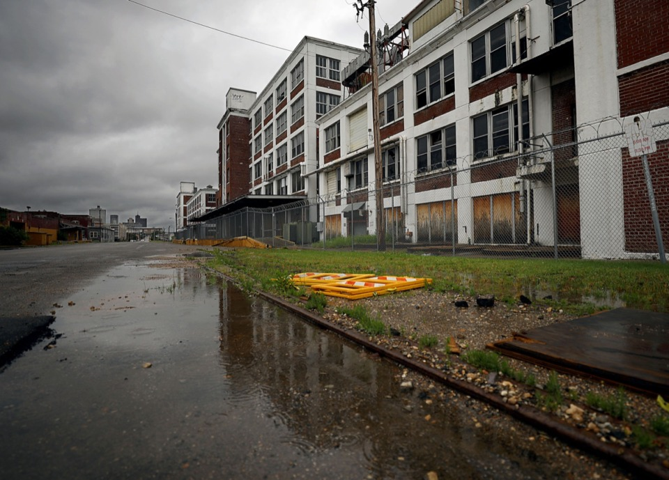 <strong>The Snuff District, a proposed $200 million mixed-use development along Wolf River Harbor's east bank looks to reimagine the historic American Snuff Factory building in Uptown as its centerpiece.</strong> (Patrick Lantrip/Daily Memphian)
