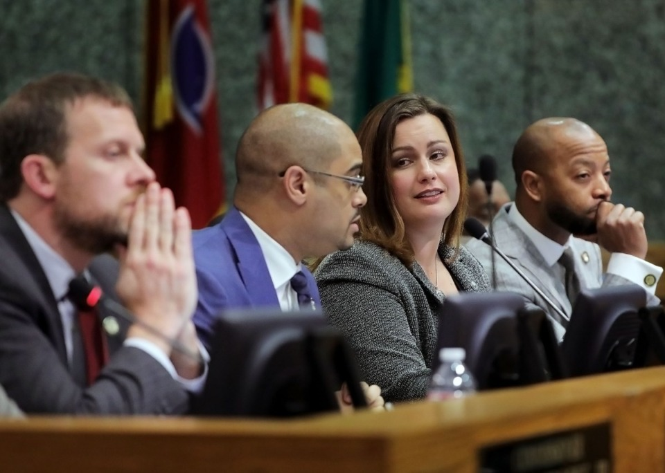 <strong>Members of the Shelby County Commission (at a Jan. 13, 2020&nbsp; meeting) have completed an overhaul of County Mayor Lee Harris&rsquo;s rejected budget proposal.</strong>&nbsp;(Patrick Lantrip/Daily Memphian file)