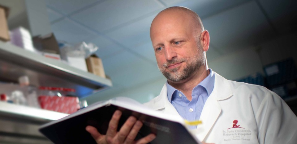<strong>Charles Russell, seen here in September of last year, published research Tuesday in the journal eLIFE that shows how critical pH is to a virus's ability to replicate. Knowing that, he says, means tests could be designed to triage viruses around the world that pose the threat of a pandemic.</strong> (Submitted/St. Jude Children's Research Hospital)