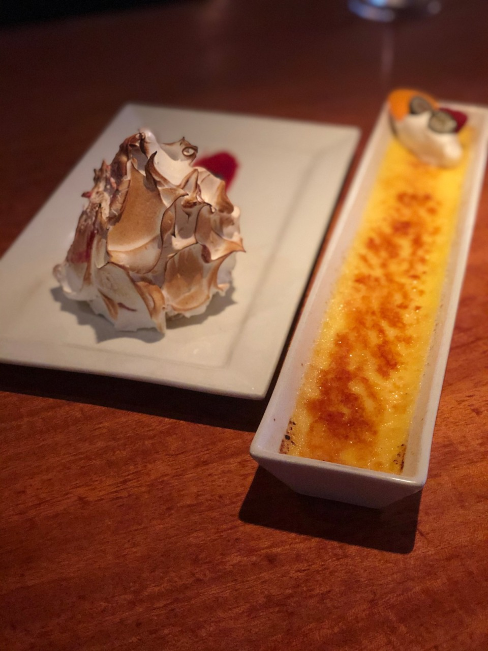 <strong>Baked Alaska and cr&egrave;me br&ucirc;l&eacute;e are two of the dessert choices at River Oaks Restaurant.</strong> (Jennifer Biggs/Daily Memphian)