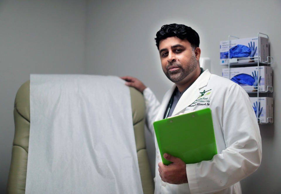 <strong>Dr. Hamad Ahmad opened the People First Urgent &amp; Primary Care at 6490 Memphis Arlington Road in Bartlett about a week ago.&nbsp;The new clinic is open seven days a week and hopes to expand with more walk-in clinics in the future.</strong> (Patrick Lantrip/Daily Memphian)