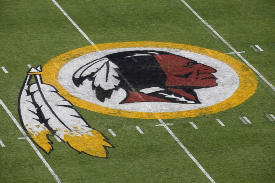 <strong>This 2014 file photo shows the Washington Redskins logo, part of the controversy over the team's name.</strong> (Alex Brandon/AP file)