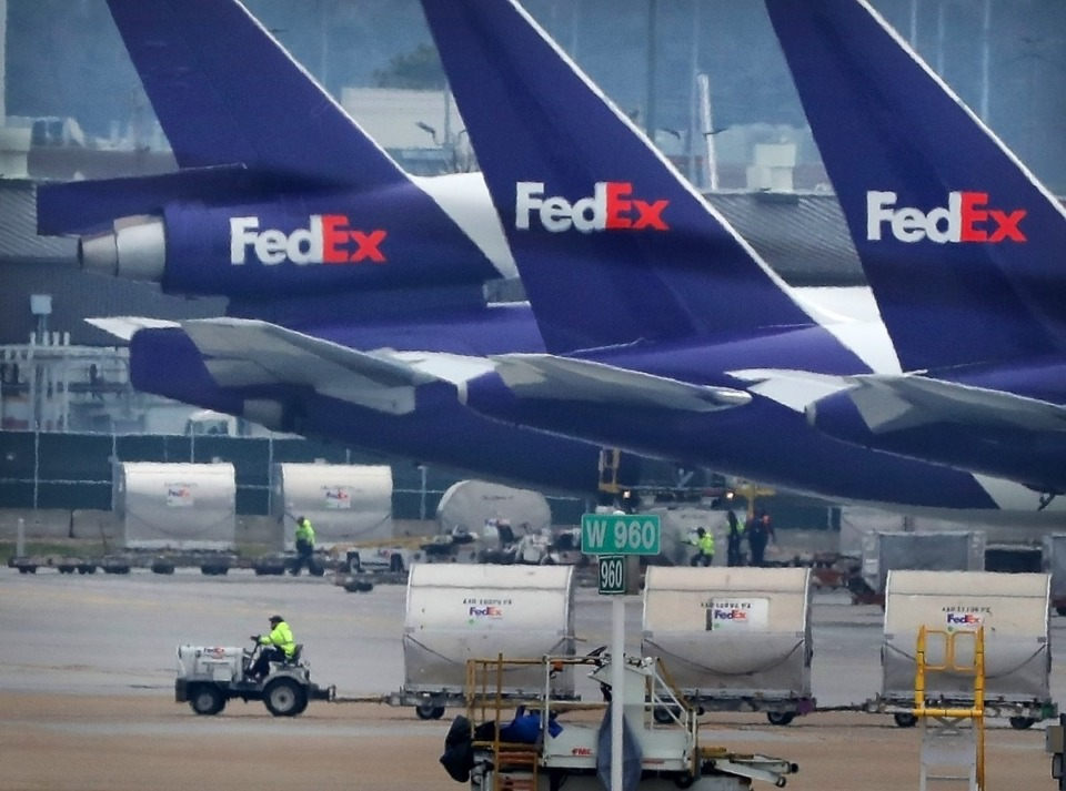 <strong>FedEx stock soared and analysts increased profit forecasts and stock price targets, after fourth-quarter earnings, reported Tuesday, June 30, beat Wall Street&rsquo;s expectations.&nbsp;</strong>(Jim Weber/Daily Memphian file)