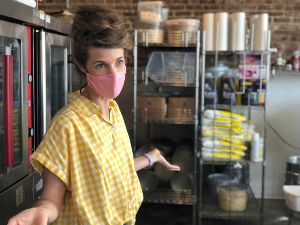 <strong>Kat Gordon has reopened Muddy's bakery on Broad with a staff of eight; they're filling pre-orders for the present.</strong> (Jennifer Biggs/Daily Memphian)