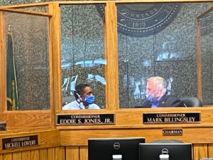 <strong>The County Commission met in person for the first time since the coronavirus shutdown on Wednesday, July 8, 2020. </strong><span><strong>&nbsp;On Monday, July 13, the Commission will take a final vote on a &ldquo;ban the box&rdquo; ordinance that would open some county government jobs to people with criminal records.</strong> (Bill Dries/Daily Memphian)</span>