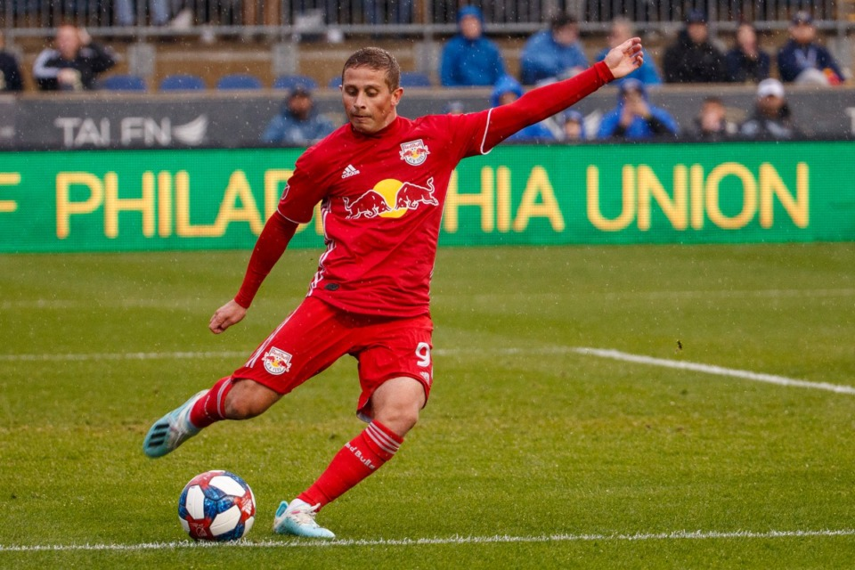 <strong>Rece Bukmaster (playing for the New York Red Bulls in an MLS soccer Eastern Conference first-round playoff match against the Philadelphia Union, Oct. 20, 2019, in Chester, Pa.) is one of two new players to join Memphis 901 FC.</strong> (Chris Szagola/AP file)
