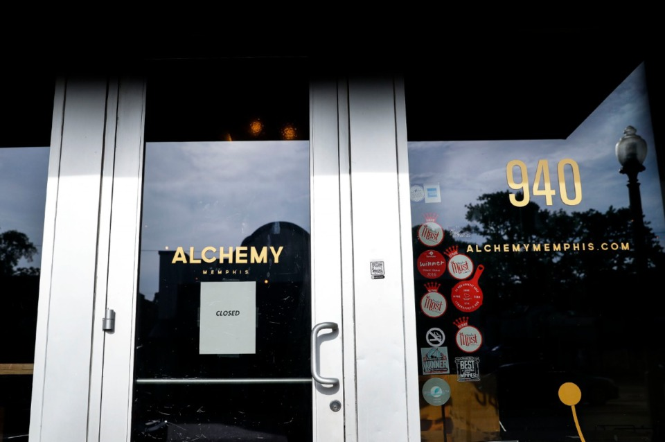 <strong>Cooper-Young restaurant and bar Alchemy was shut down by the Tennessee Alcoholic Beverage Commission on Thursday, July 9, 2020.</strong> (Mark Weber/Daily Memphian)