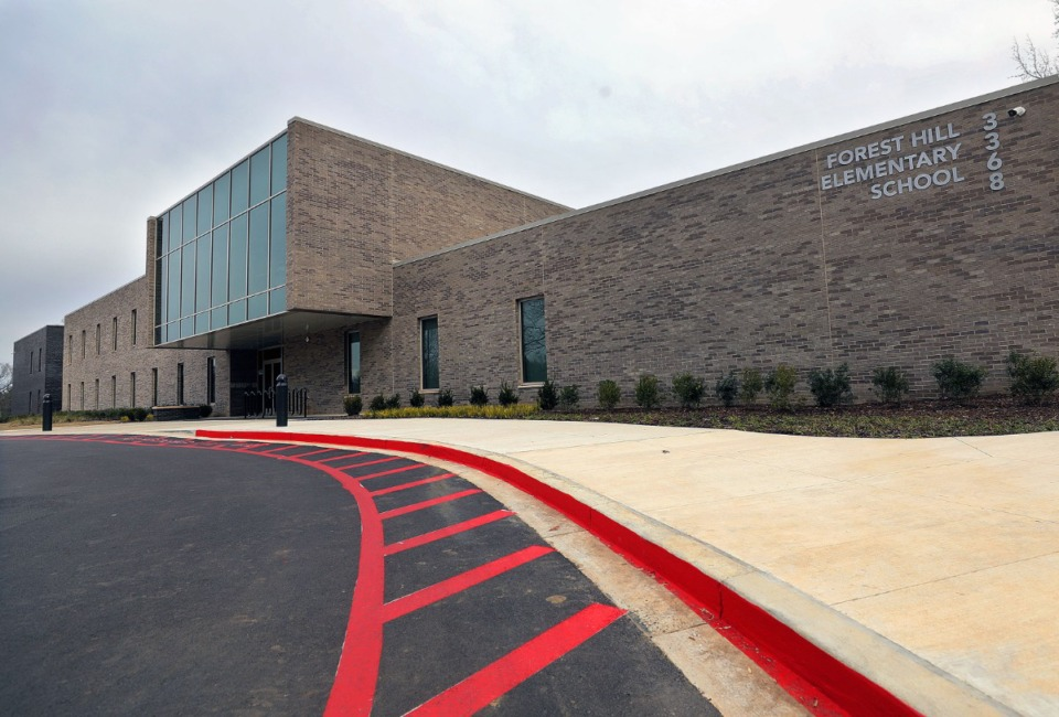 <strong>Forest Hill Elementary School (in a file photo) is among the schools that will be affected by suburban school districts&rsquo; decisions.</strong> (Patrick Lantrip/Daily Memphian)