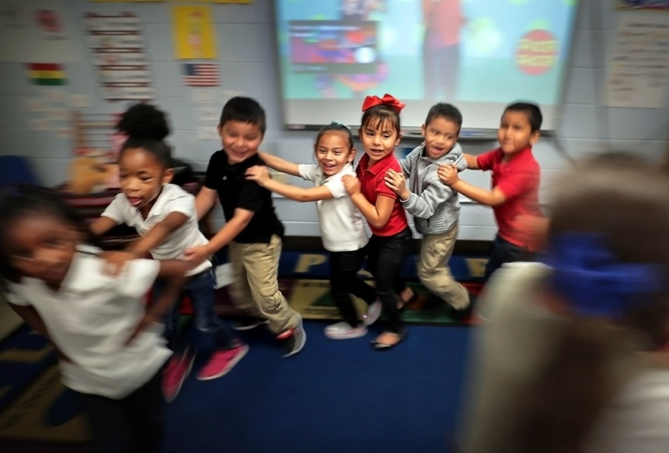 <strong>Treadwell Elementary School kindergartners (in a file photo) dance.&nbsp;&ldquo;The reality of reopening school buildings and college campuses is that any missteps could cost lives, particularly among our most vulnerable students and in Black, brown and poor communities,&rdquo; said Lily Eskelsen Garc&iacute;a, president of the National Education Association.</strong> (Jim Weber/Daily Memphian file)