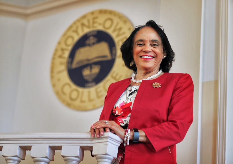 <strong>Dr. Carol Johnson-Dean, president of LeMoyne-Owen College, seen here in 2019, discusses the gift to the college on the Extra Podcast.</strong> (Jim Weber/Daily Memphian)