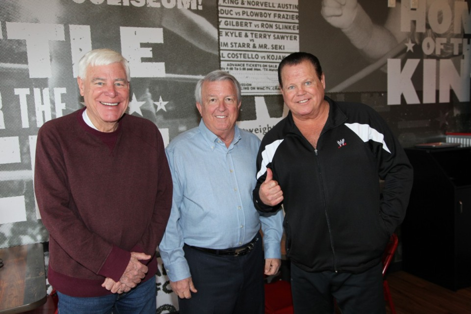 <strong>(From left) Dave Brown, Don DeWeese, Jerry Lawler.&nbsp;</strong>(Photo courtesy of Don DeWeese)