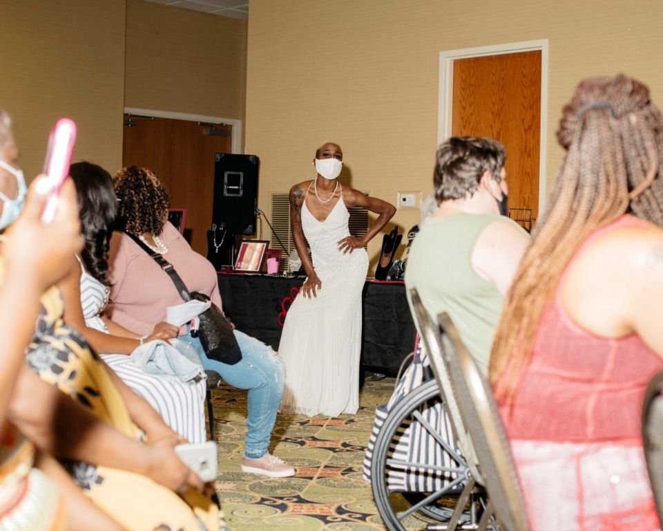 <strong>The Memphis Bridal Show put on a fashion show of dresses for sale during their annual event at the Whispering Woods Hotel in Olive Branch, Mississippi. The bridal show moved ahead with its annual event despite the pandemic.</strong> (Houston Cofield/Special the Daily Memphian)