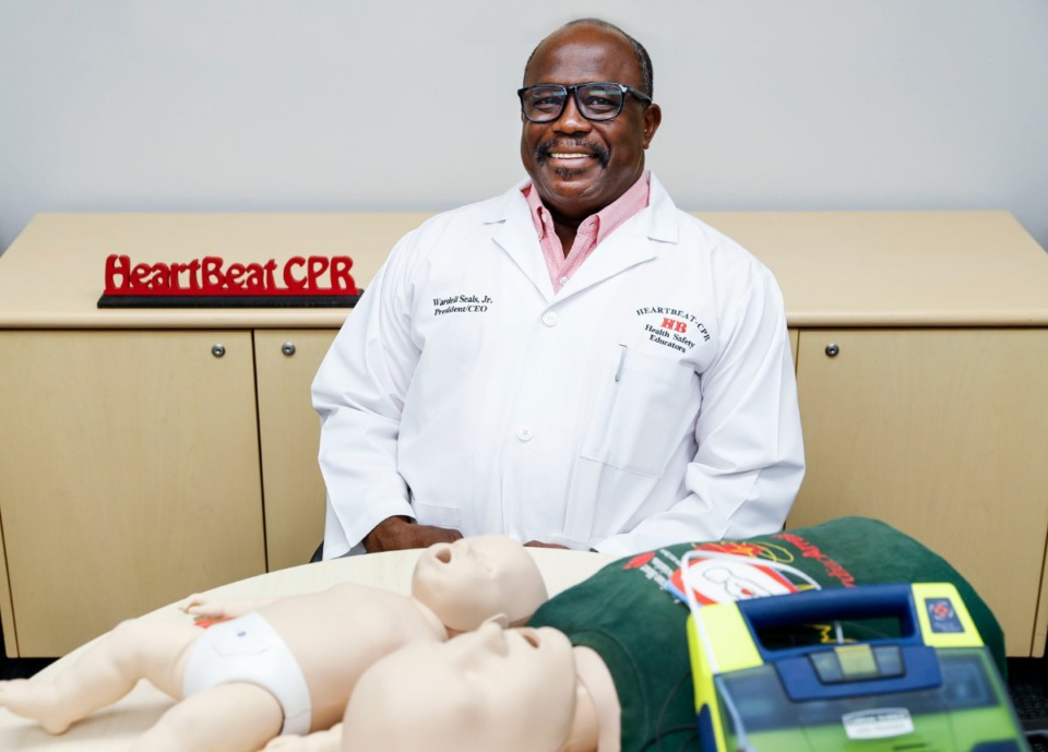 <strong>HeartBeat CPR owner Wardell Seals Jr. (on Wednesday, July 22, 2020)&nbsp;moved his business to a new office in Bartlett after the pandemic began. Snce the mid-90s, they've provided emergency training for a wide range of groups and individuals around town, including school bus drivers, police and fire personnel.&nbsp;</strong> (Mark Weber/Daily Memphian)