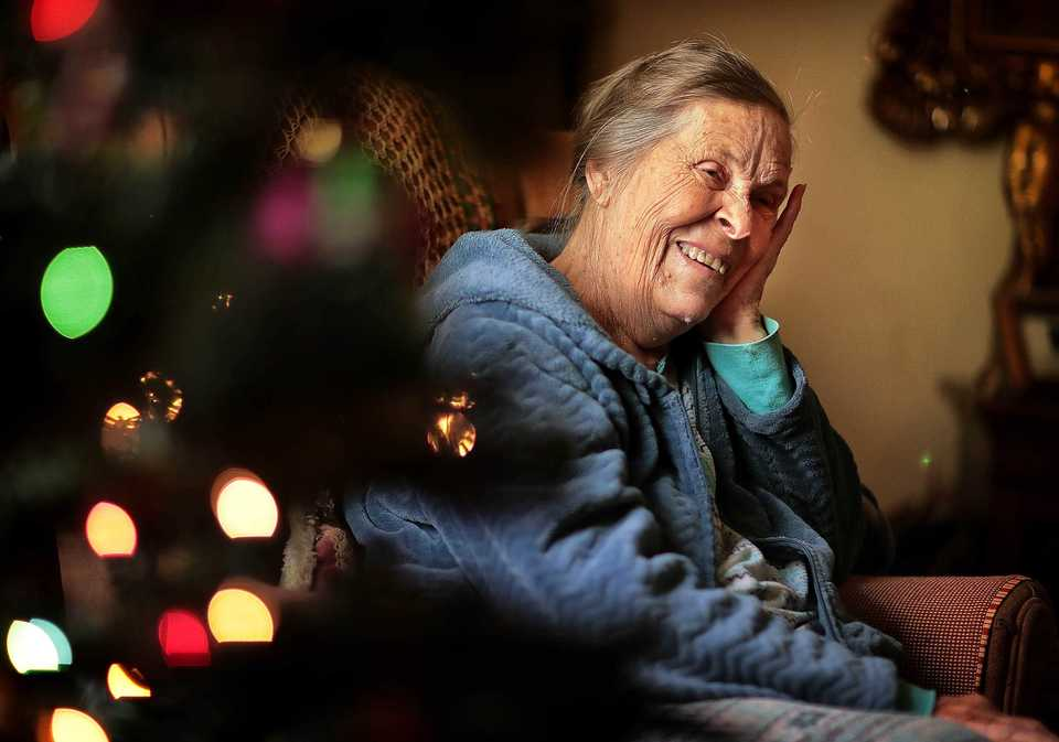 <strong>Alma Blankenship, 85, who has gotten help from Meritan since her husband died five years ago, says she doesn't need much for Christmas and is thankful for the things she has: a son who helps take care of her, a nice home in Bartlett. But Meritan's Silver Bells program is dedicated to providing seniors like Alma a few necessities under the tree like new sheets, a blanket and slippers.</strong> (Jim Weber/Daily Memphian)