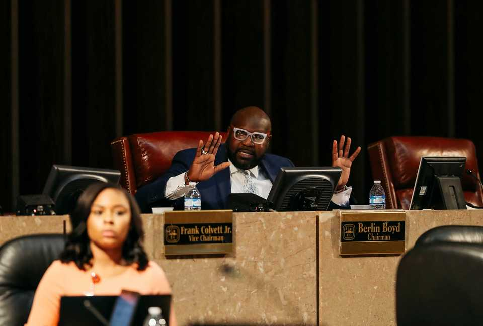 <strong>Memphis City Council Chairman Berlin Boyd discusses the District 1 stalemate during the body's Tuesday, Dec. 4, meeting, during which four council members walked out. Boyd said Friday he is hopeful the council can reach a quorum Tuesday.</strong> (Houston Cofield/Daily Memphian)