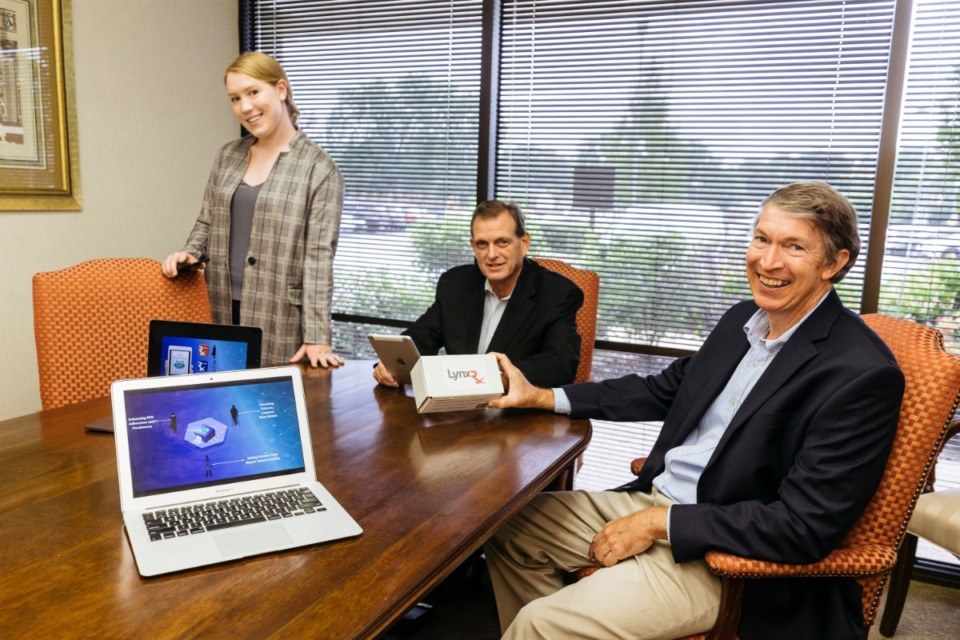 <strong>Officers of LynxRx, Eve Eason (left), John Lawrence (center), and Bob Eason, aim to track and trace prescribed medications and samples through a streamlined, digital process</strong>.&nbsp;<strong>LynxRx was one of three Memphis-based companies to participate in a virtual version of Demo Day.&nbsp;</strong>(Ziggy Mack/Special to The Daily Memphian)