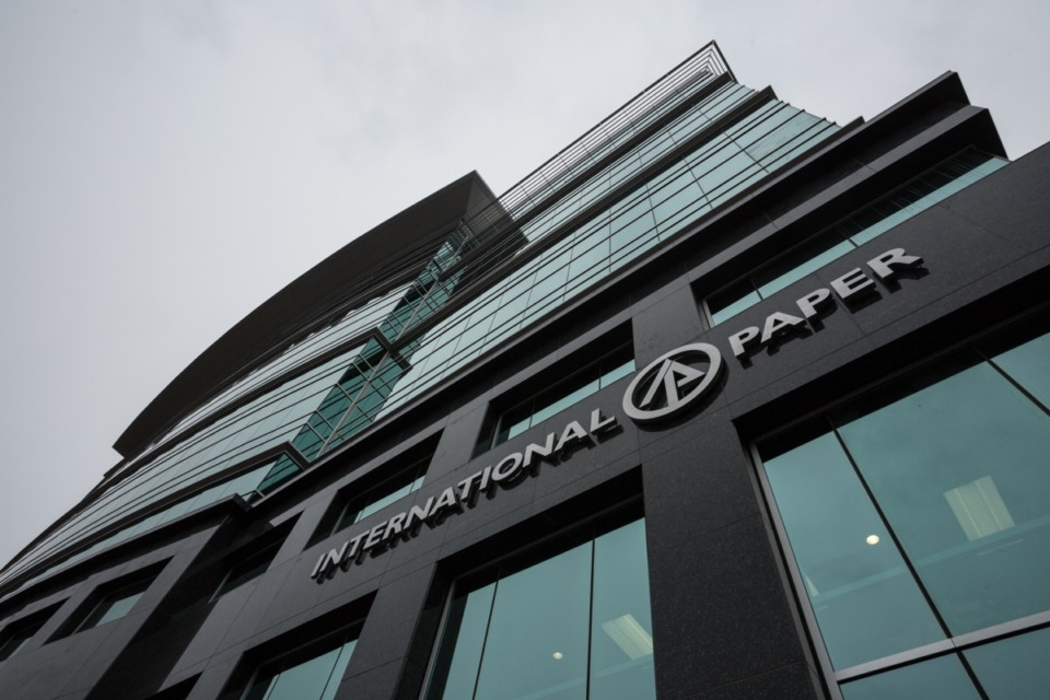 <strong>Memphis-based International Paper reported adjusted earnings of $305 million, or 77 cents a share, for the April-June quarter on total sales of $4.86 billion.</strong> (Daily Memphian file)