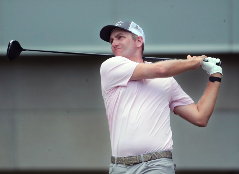 <strong>Brendon Todd tees off on the sixth hole during the final round of the WGC-FedEx St. Jude Invitational in Memphis, Tennessee Aug. 2, 2020.</strong> (Patrick Lantrip/Daily Memphian)