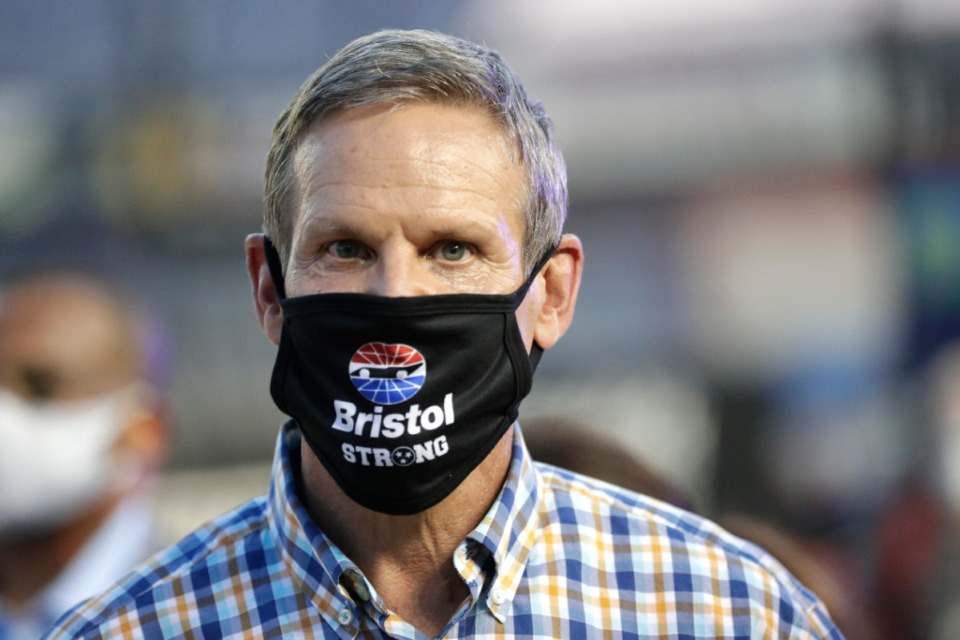 <strong>Tennessee Gov. Bill Lee, seen here July 15 in Bristol, Tenn., has signed an executive order to allow contact sports in high schools.</strong> (Mark Humphrey/AP file)