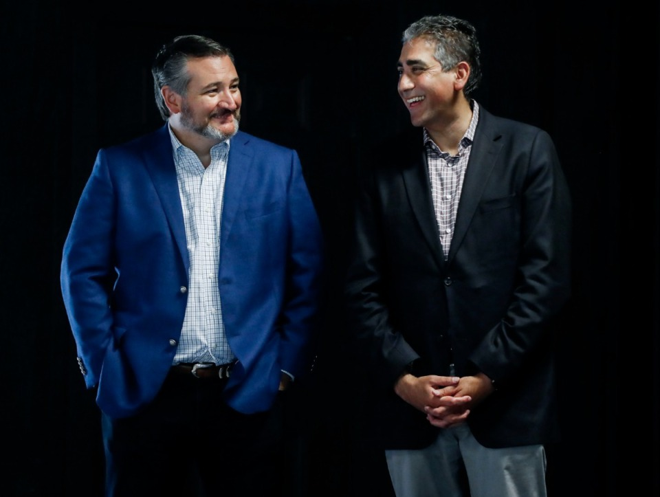 <strong>Republican U.S. Senate candidate Manny Sethi (right) held a campaign event with former Republican presidential hopeful and U.S. Sen. Ted Cruz of Texas on Monday, Aug. 3, at The Grove at Red Oak Lake in Cordova.</strong> (Mark Weber/Daily Memphian)